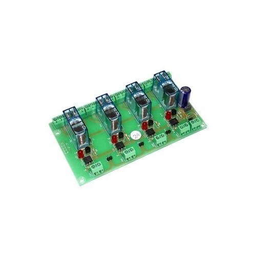 Cebek T-31 (CT031) - 24Vdc 4-Channel Isolated IO DPDT Relay Board Module