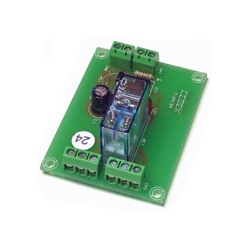Cebek T-34 (CT034) - 24Vdc 1-Channel Isolated IO DPDT Relay Board Module