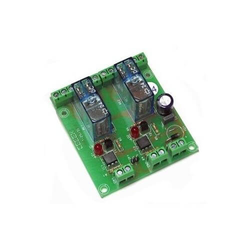 24Vdc 2-Channel Isolated IO DPDT Relay Board Module