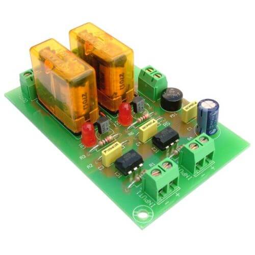 Cebek T-5 (CT005) - 12Vdc 2-Channel Isolated IO SPDT Relay Board Module