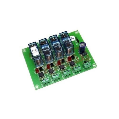Cebek T-51 (CT051) - 24Vdc 4-Channel Isolated IO SPDT Relay Board Module