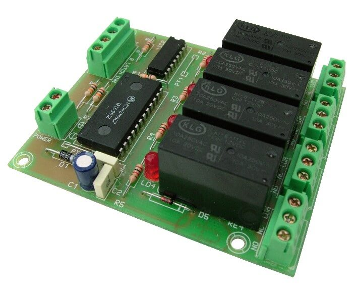 Cebek T-7 4-Channel BCD Command Relay Board Module | Quasar UK