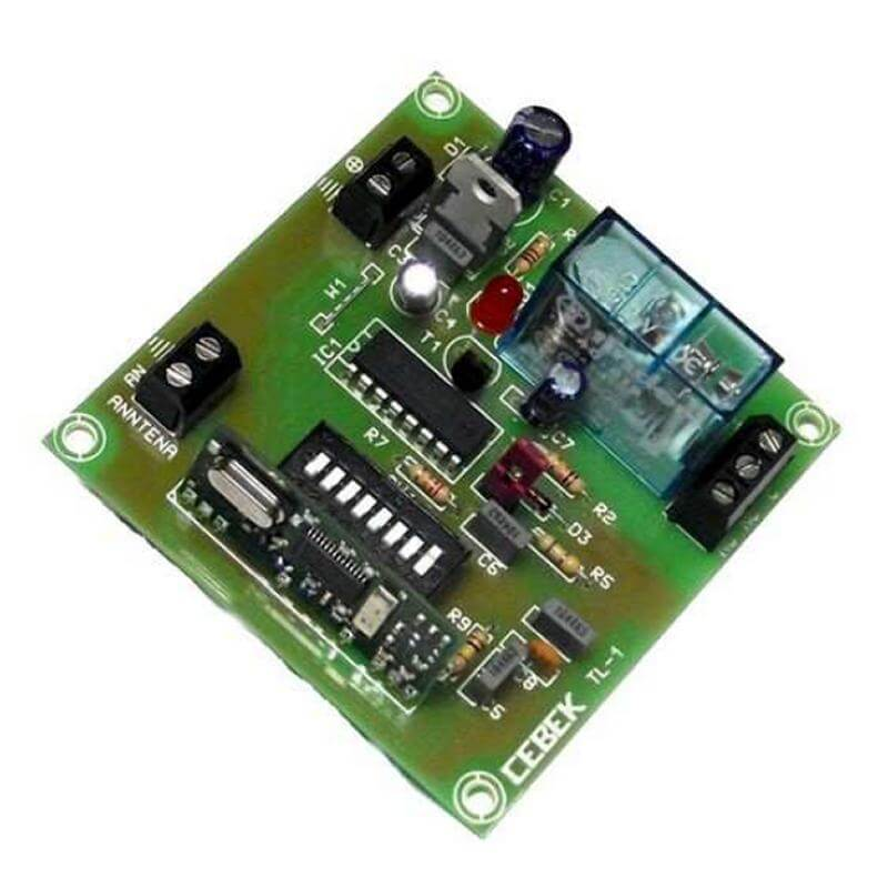Cebek TL-1 (CTL001) - 1-Channel Momentary Relay Receiver, 12Vdc