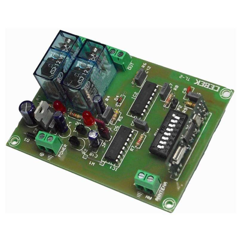 2 Channel Momentary Relay Receiver Module, 12Vdc