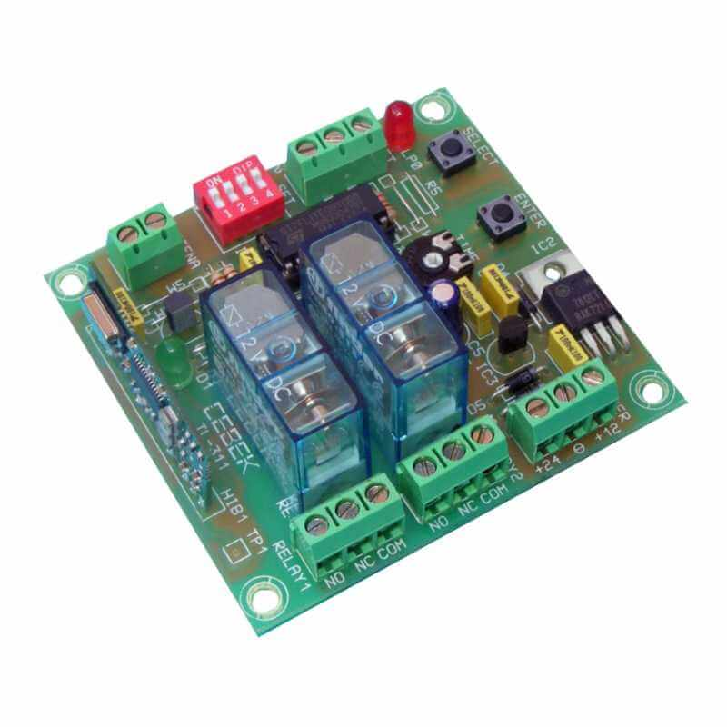 2-Channel Momentary, Toggle, Timer RF Relay Receiver, 12/24Vdc (Group 3)