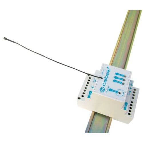1-Channel 230Vac DIN Rail Momentary, Toggle, Timer RF Receiver (Group 3)