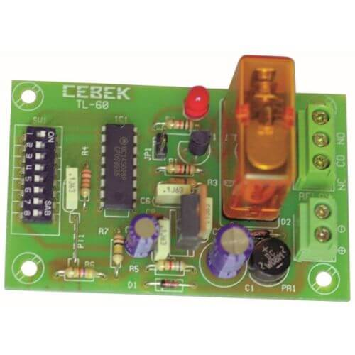 Cebek TL-60 (CTL060) - 1-Channel Relay Receiver Module (Momentary Action)