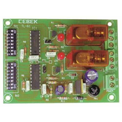 Cebek TL-61 (CTL061) - 2-Channel Relay Receiver Module (Momentary Action)