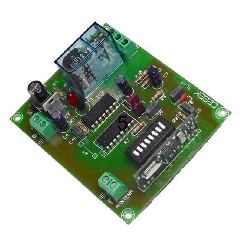 1 Channel Toggle Relay Receiver Module, 12Vdc