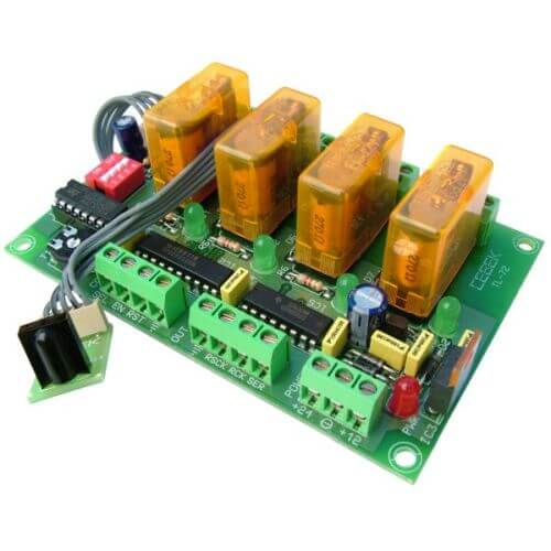 4-Channel Infrared Relay Receiver Module