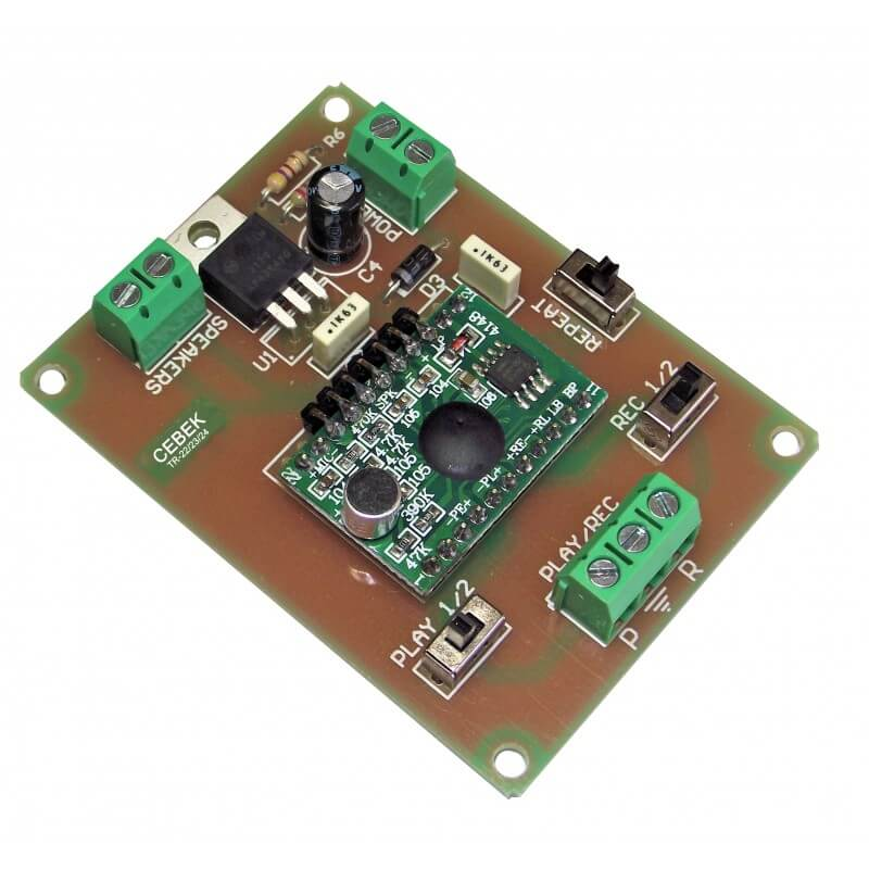 12Vdc, 1 Message, 30 Second Sound Recorder Module