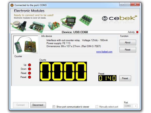 4-Digit USB Counter with LED Display