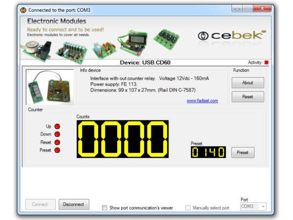 Cebek Usb Cd 60 4 Digit Usb Counter With Led Display