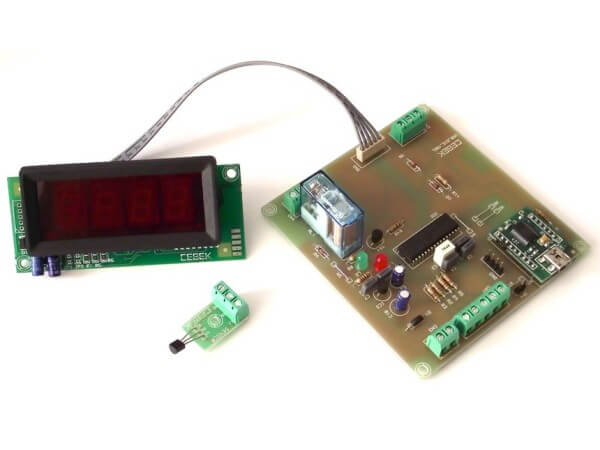 4-Digit USB Digital Thermostat with Relay