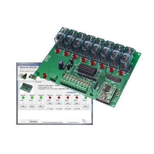 8-Channel USB Relay Interface
