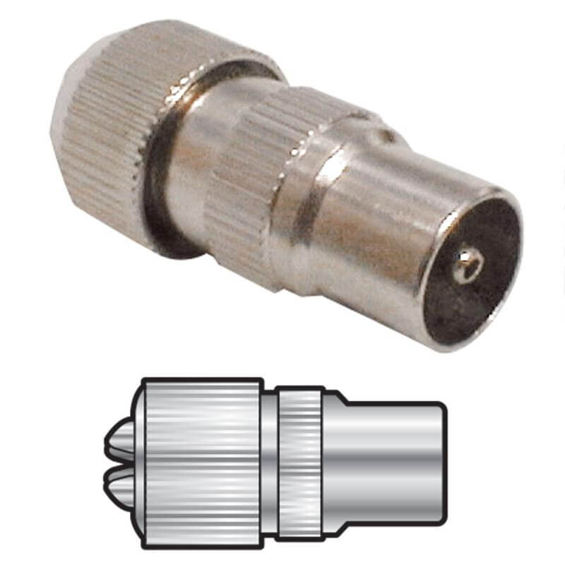 HQ Nickel Plated Brass Precision Coaxial Plug