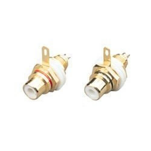 HQ RCA Phono Chassis Sockets, Gold Plated