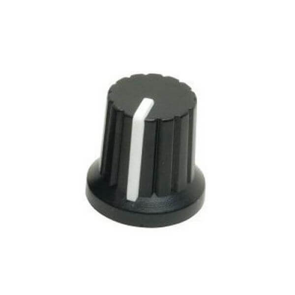15mm (6mm) Control Knob with White Pointer