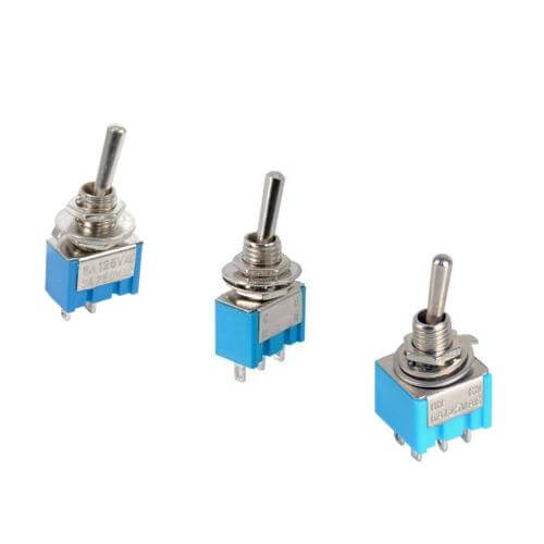 Miniature Toggle Switches, 125Vac 6A