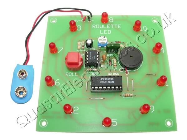 LED Roulette Wheel Electronic Kit