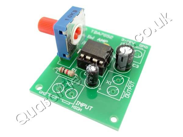 low voltage 1 watt tda7052 mono audio amplifier kit quasar as3027kt1w btl mono audio amplifier (tda7052)