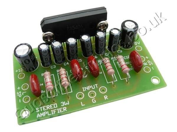 3W Stereo Audio Amplifier Kit (ROHM BA5406 IC)