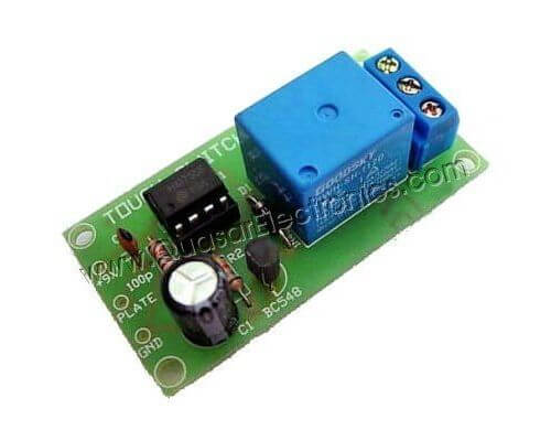 Touch Activated Relay Switch with Turn-Off Delay