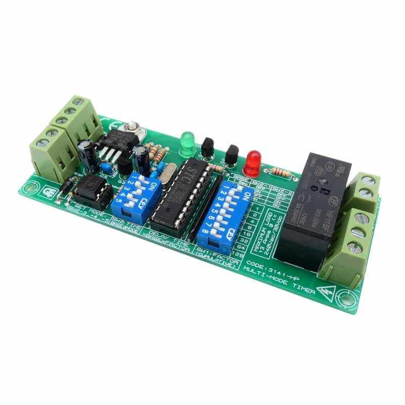 Multi-Mode Delay Timer, 13A Relay, Isolated Input