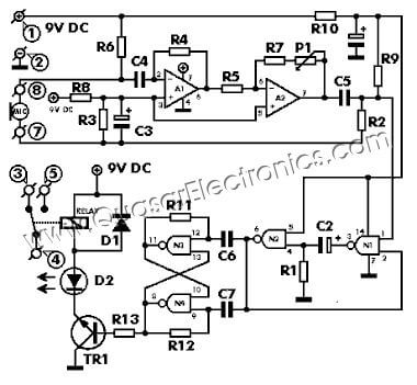 On Off Latching Relay Circuit