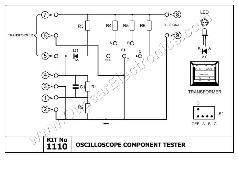 Oscilloscope Component Tester | Smart Kit 1110