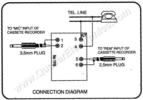 Telephone recording interface smart kit 1119 quasar electronics telephone recording interface ccuart Gallery