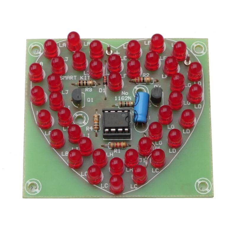 Double Heart LED Flasher Kit