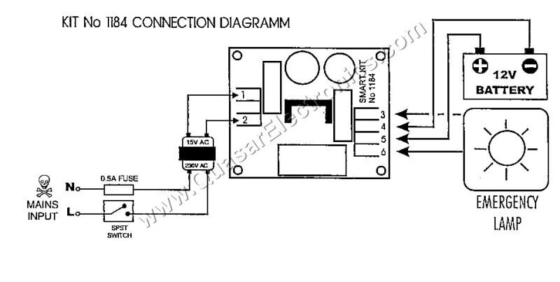 emergency lighting controller smart kit 1184 rh quasarelectronics co uk T5 Emergency Ballast Wiring Diagram Philips Bodine Emergency Wiring-Diagram