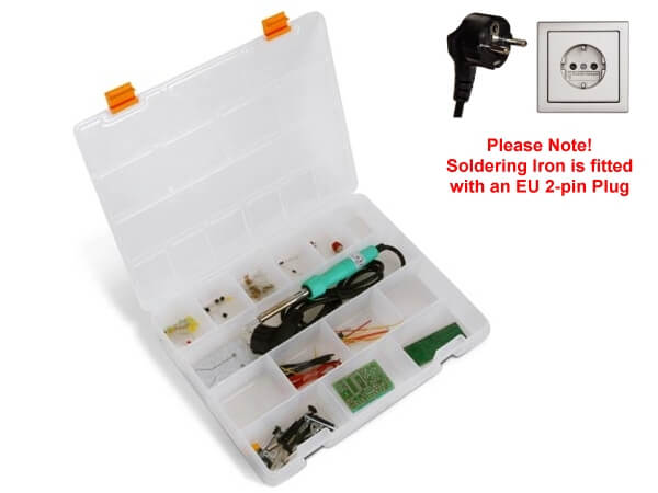 Start to Solder Educational Kit (2-pin Euro Plug Soldering Iron)