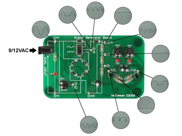 Oscilloscope Tutor Educational Board
