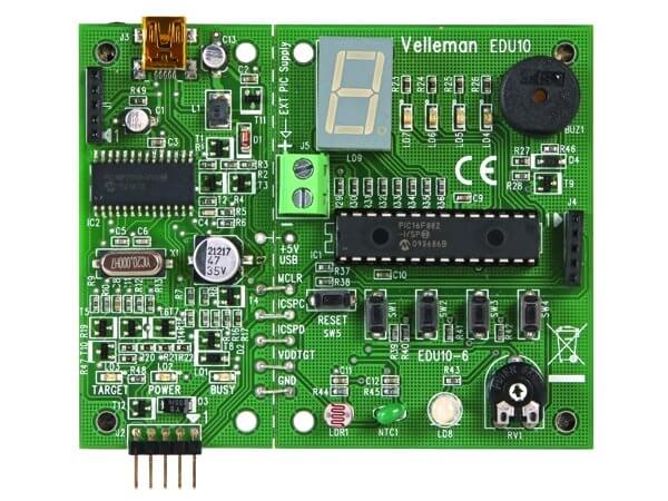 Velleman EDU10 USB PIC Programmer and Tutor Board | Quasar UK