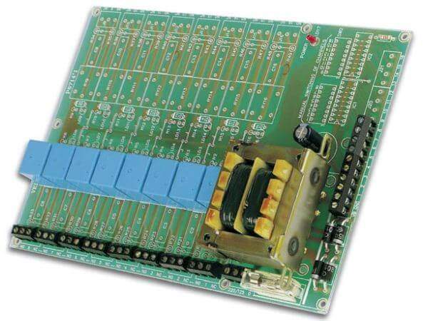 Universal Relay Card (8 Relays) Electronic Kit (110/230Vac)