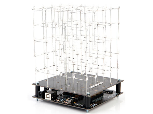 3D White LED Cube (5x5x5) Electronic Kit