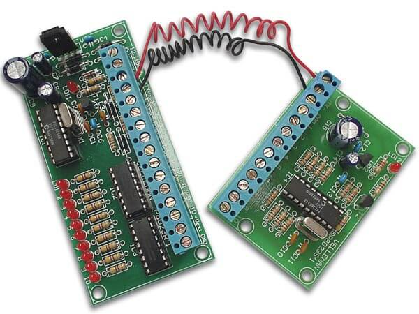 10-Channel, 2-Wire Remote Control Electronic Kit