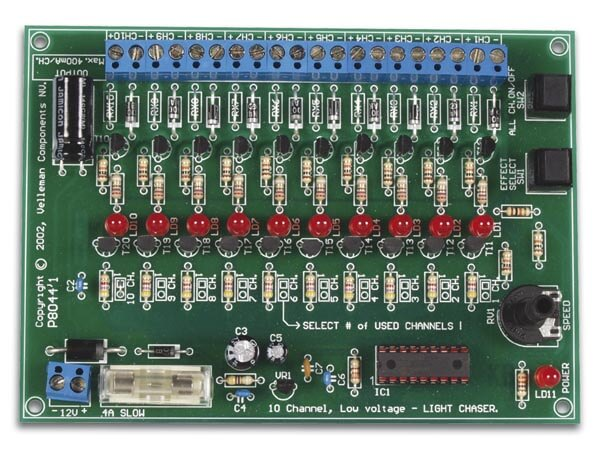 10-Channel 12Vdc Light Effect Generator Electronic Kit