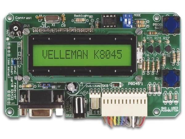 Programmable LCD Message Board Kit (Serial Interface, 8 Inputs)