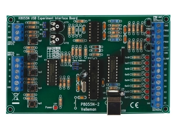 USB Experiment Interface Board Electronic Kit (New Version)