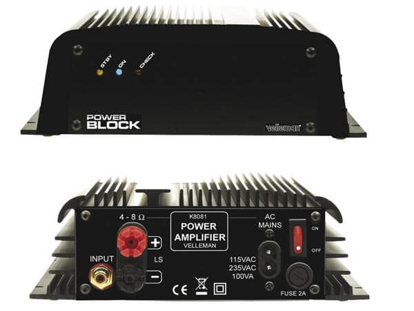 PowerBlock Audio Power Amplifier Electronic Kit (110/230Vac)
