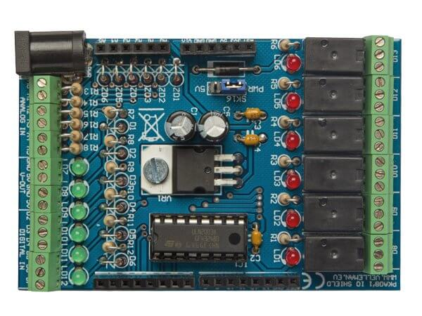 Velleman ka in out shield kit for arduino yun quasar uk