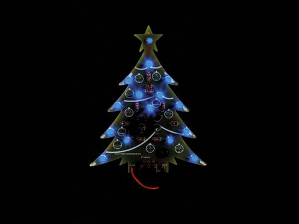 Blue LED Electronic Christmas Tree Kit