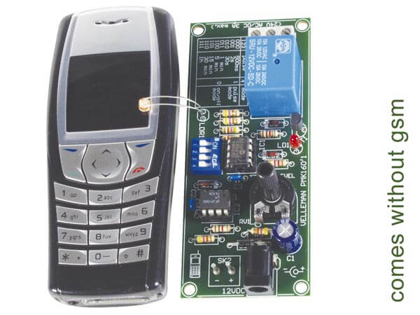 Remote Control Via GSM Mobile Phone Electronic Kit