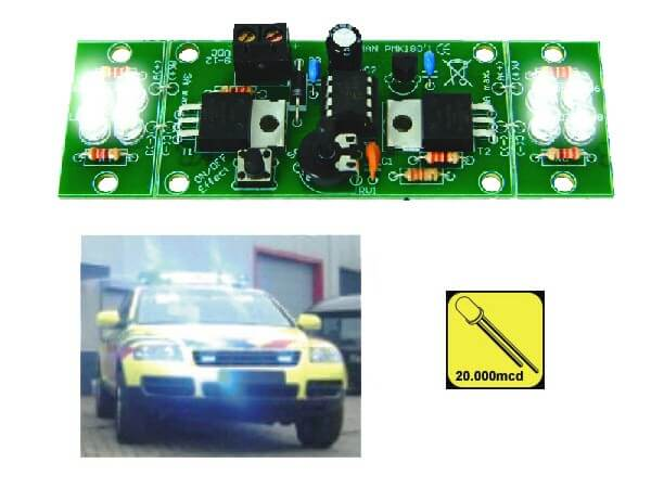 Two-Channel Hi-Power LED Flasher Electronic Kit