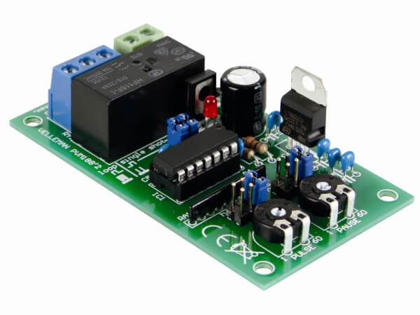 Pulse-Pause Relay Timer Electronic Kit (1Sec - 60Hr)