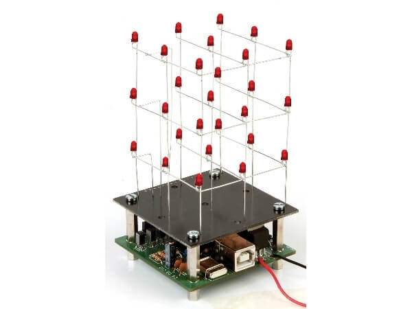 3D LED Cube (3x3x3) Electronic Kit