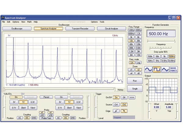 PC USB Oscilloscope and Function Generator